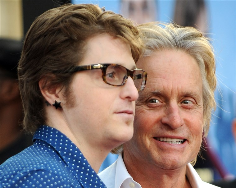 Michael Douglas with his son, Cameron. Prison can be dangerous.